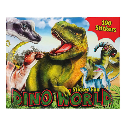 Kreativní sešit Dino World Dinosauři, 190 samolepek