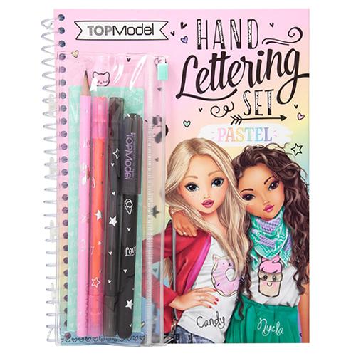 Kreativní sada písmomalířství Top Model Nyela a Candy, fixy, tužka