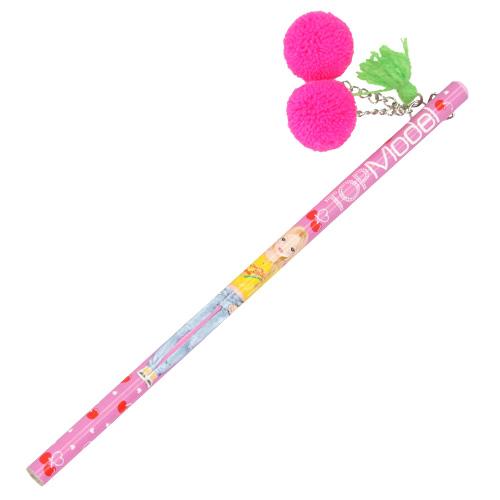 Tužka s plyšovou třešní Top Model ASST Neonově růžová třešeň