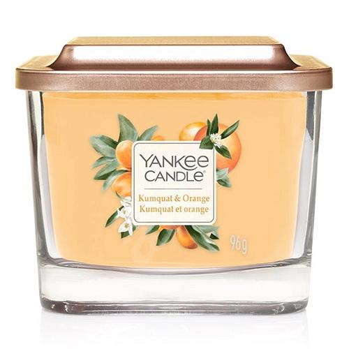 Svíčka ve skleněné váze Yankee Candle Kumquat a pomeranč, 96 g