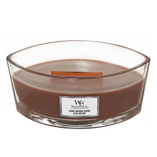 Svíčka dekorativní váza WoodWick Semiš, 453.6 g