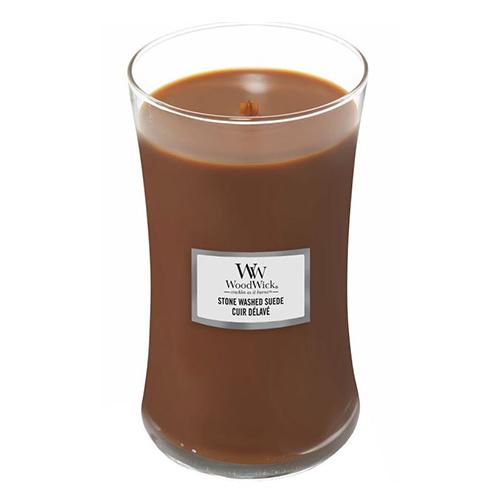 Svíčka oválná váza WoodWick Semiš, 609.5 g