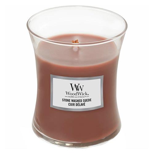 Svíčka oválná váza WoodWick Semiš, 275 g