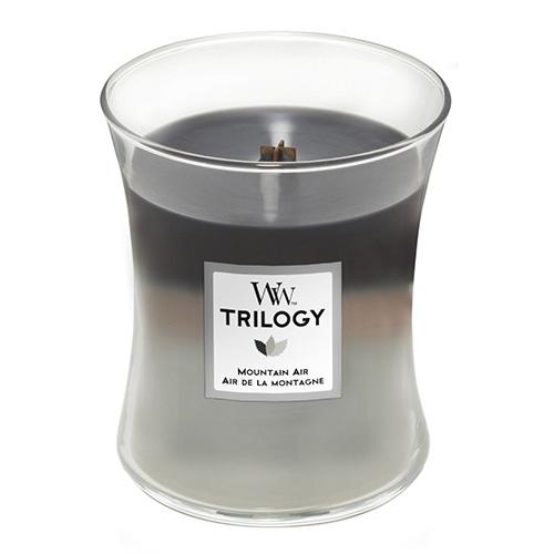 Svíčka Trilogy WoodWick Horský vzduch, 275 g
