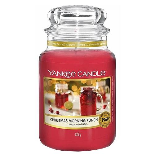 Svíčka ve skleněné dóze Yankee Candle Ranní vánoční punč, 623 g