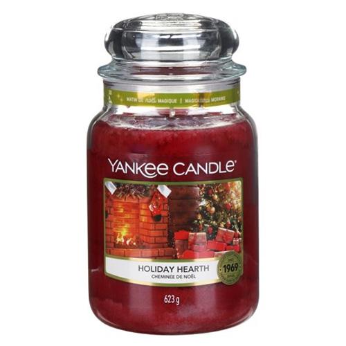 Svíčka ve skleněné dóze Yankee Candle Sváteční krb, 623 g