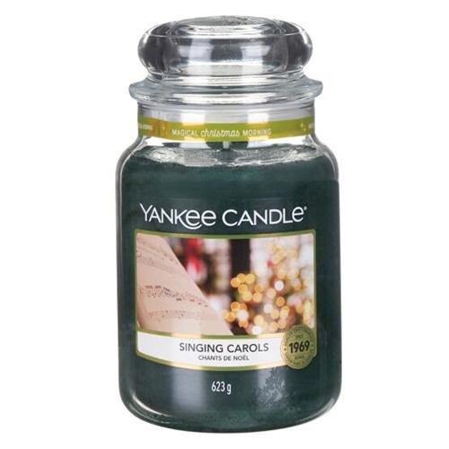 Svíčka ve skleněné dóze Yankee Candle Zpívání koled, 623 g