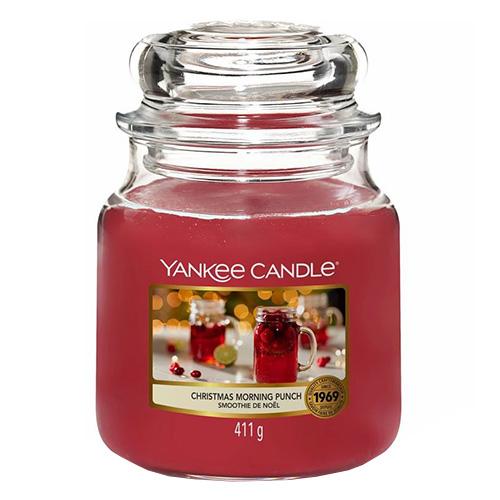 Svíčka ve skleněné dóze Yankee Candle Ranní vánoční punč, 410 g