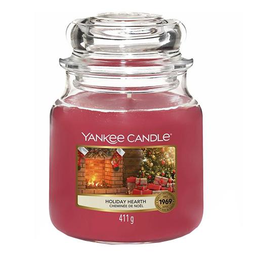 Svíčka ve skleněné dóze Yankee Candle Sváteční krb, 410 g