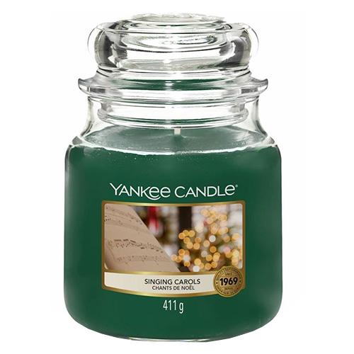 Svíčka ve skleněné dóze Yankee Candle Zpívání koled, 410 g