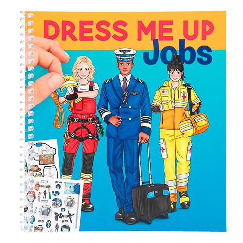 Creative Studio Dress Me Up - Jobs Blok pro tvorbu pracovních uniforem, se samolepkami