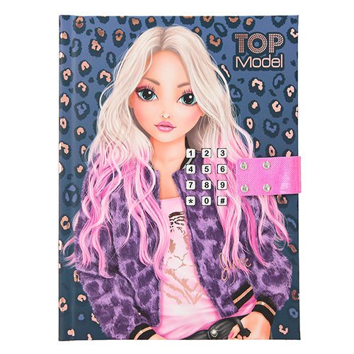 Zápisník se zámkem na kód Top Model June, Modro-fialový