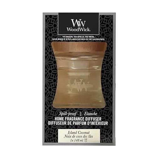 Aroma difuzér WoodWick Kokosový ostrov, 148 ml