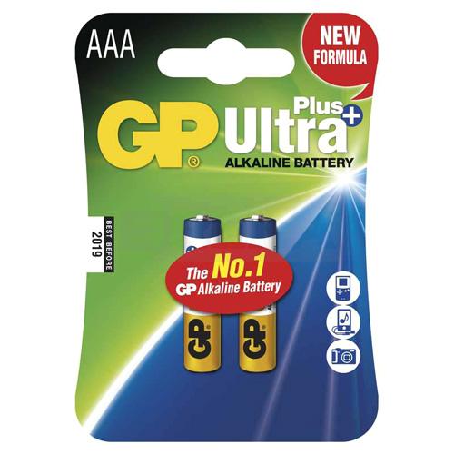 GP Batteries Alkalická baterie GP Ultra Plus 2x AAA