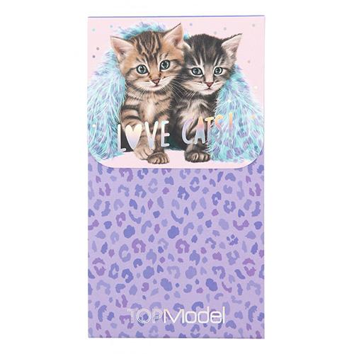 Blok Top Model ASST Kočičky, leopardí fialový