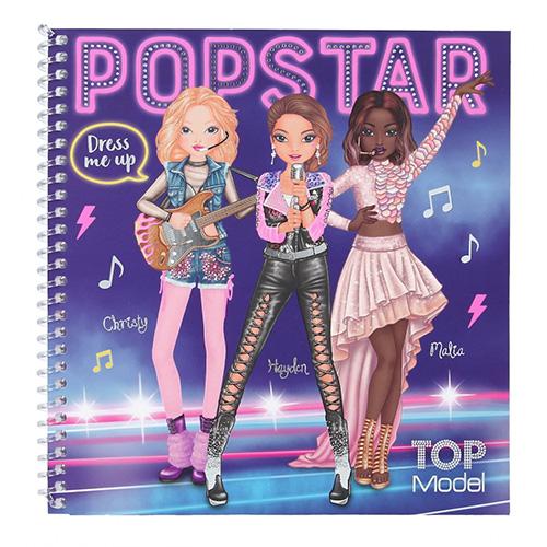 Kreativní sešit Top Model Christy, Hayden, Malia, obleč mě, Popstar