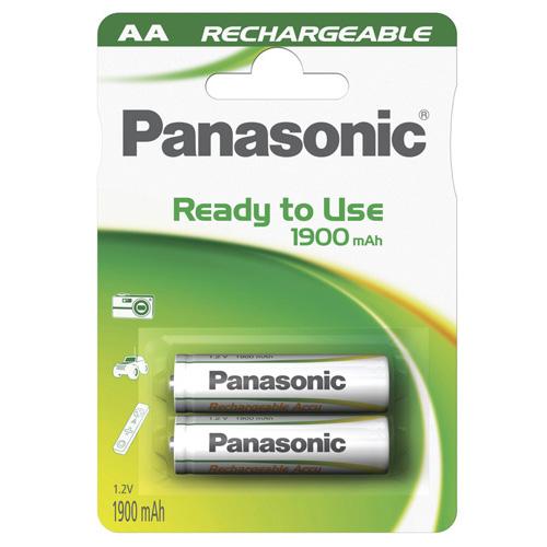 Baterie nabíjecí AA Panasonic NiMH 1.2V/1900 mAh, 2 ks/bal.