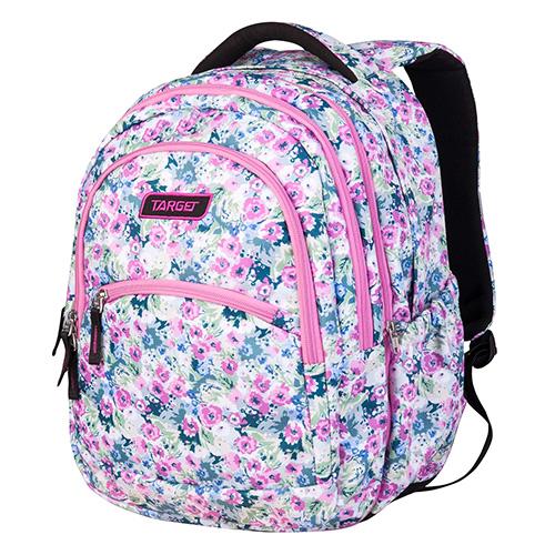 Školní batoh 2v1 Target Květiny, barva bílá