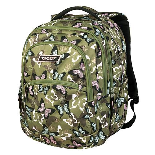 Školní batoh 2v1 Target Motýli, barva zelená
