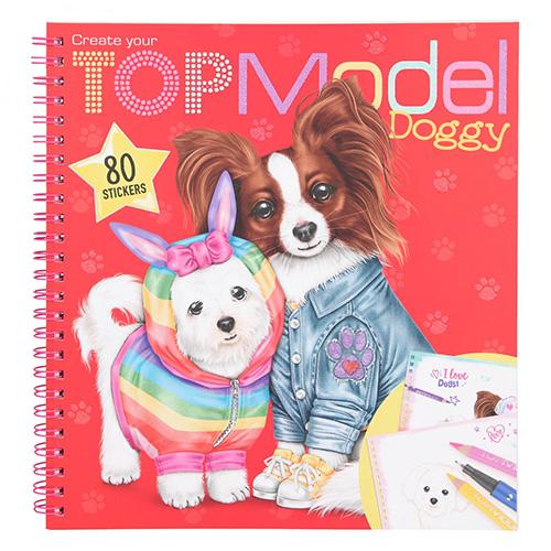 Omalovánka | Create Your Top Model Doggy 80 samolepek