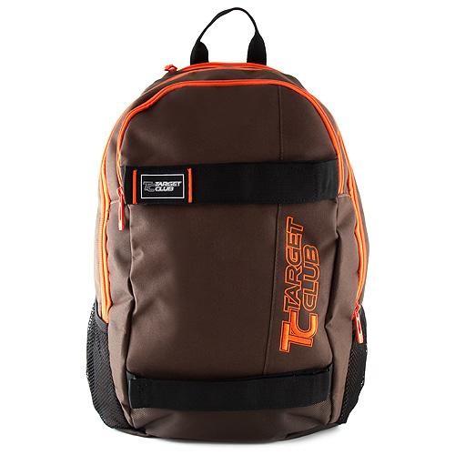 Sportovní batoh Target hnědý, oranžový nápis