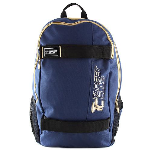 Sportovní batoh Target modrý, béžový nápis
