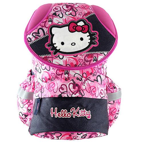Školní batoh Hello Kitty motiv srdíček