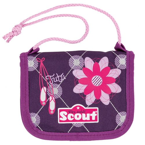 Peněženka s poutkem Scout zaoblená, baleríny a květina