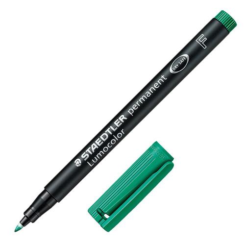Popisovač Staedtler zelený, permanentní, šířka hrotu 0,6 mm
