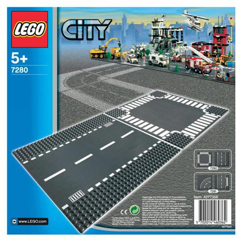 Fotografie Stavebnice LEGO City Rovná silnice a křižovatka, 2 díly