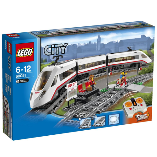 Stavebnice LEGO City Vysokorychlostní osobní vlak, 610 dílků