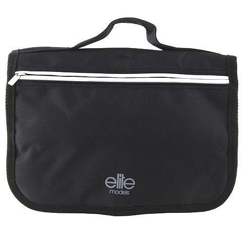 Taška kosmetická Elite Models černá, šedý proužek