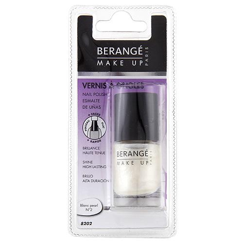 Lak na nehty Berangé Paris Bílý perleťový, 10ml