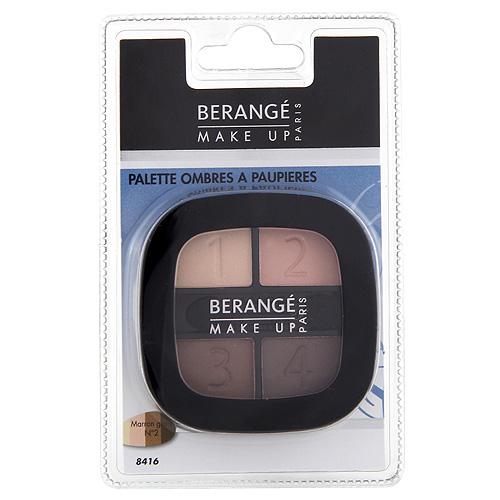 Oční stíny Berangé Paris 4 odstíny hnědé, 4.8 g