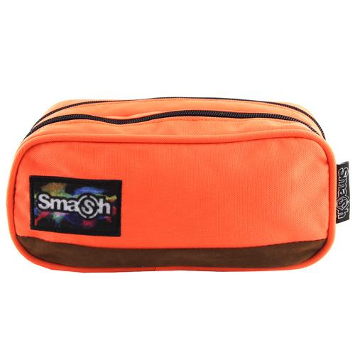 Školní penál bez náplně Smash oranžový, 2 kapsy