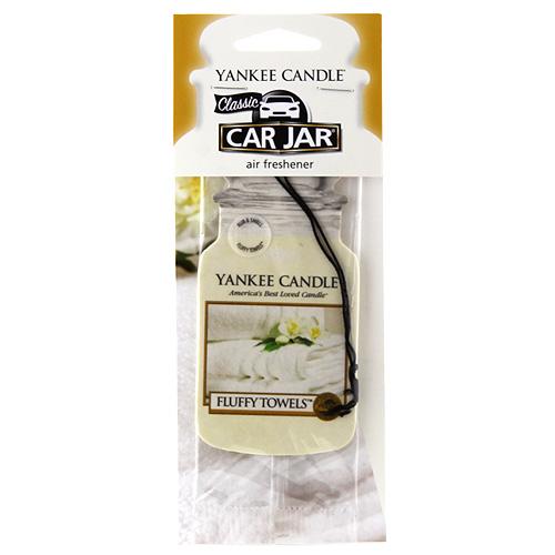 Osvěžovač do auta Yankee Candle Nadýchané osušky, 1x papírová visačka