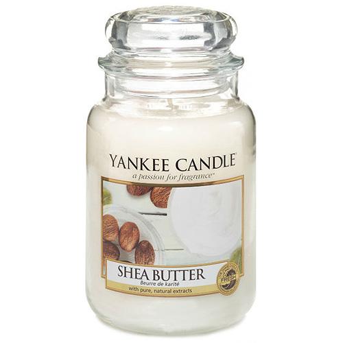 Svíčka ve skleněné dóze Yankee Candle Bambucké máslo, 623 g