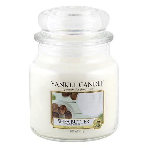 Svíčka ve skleněné dóze Yankee Candle Bambucké máslo, 410 g