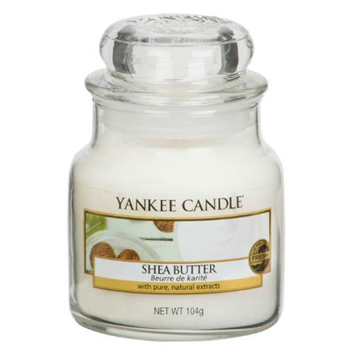 Svíčka ve skleněné dóze Yankee Candle Bambucké máslo, 104 g