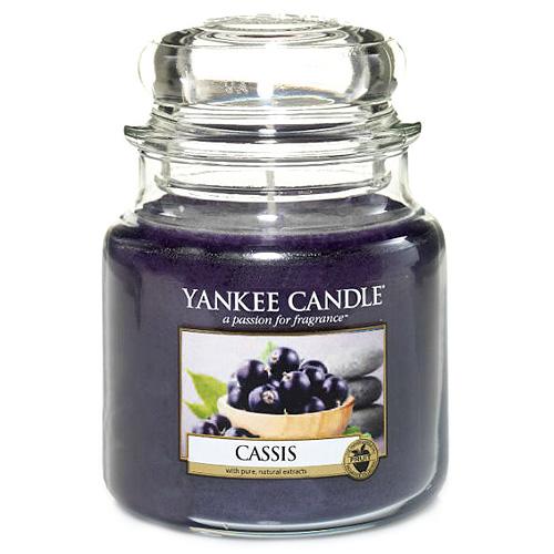 Svíčka ve skleněné dóze Yankee Candle Černý rybíz, 410 g