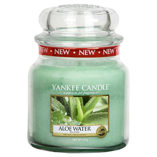 Svíčka ve skleněné dóze Yankee Candle Voda s Aloe, 410 g