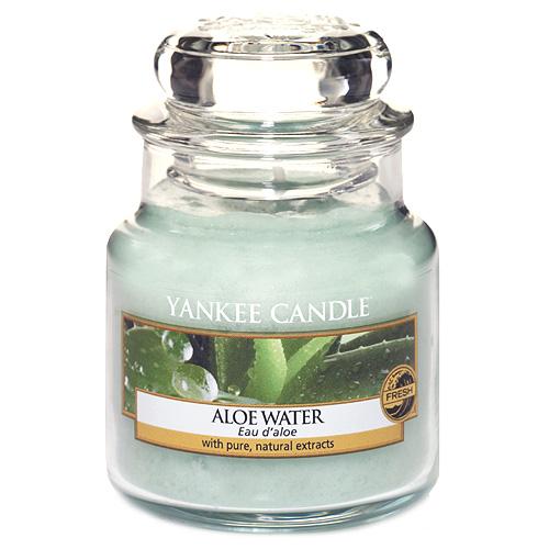 Svíčka ve skleněné dóze Yankee Candle Voda s Aloe, 104 g