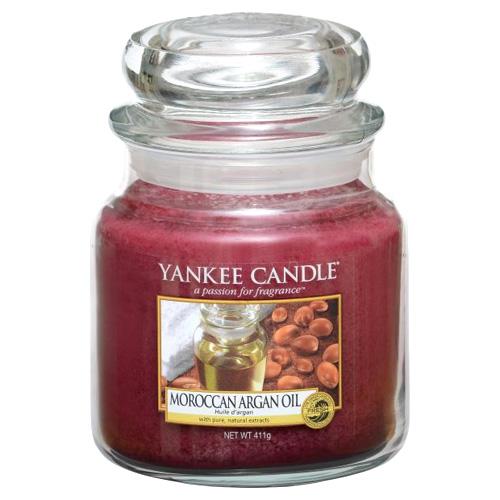 Svíčka ve skleněné dóze Yankee Candle Marocký arganový olej, 410 g