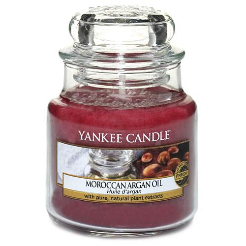 Svíčka ve skleněné dóze Yankee Candle Marocký arganový olej, 104 g