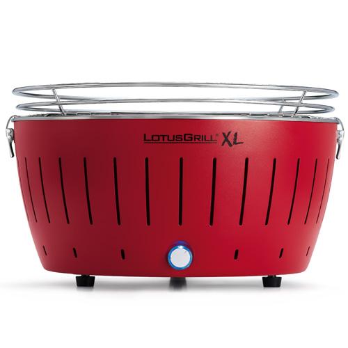 Gril XL na dřevěné uhlí LotusGrill Červený, 6.5kg