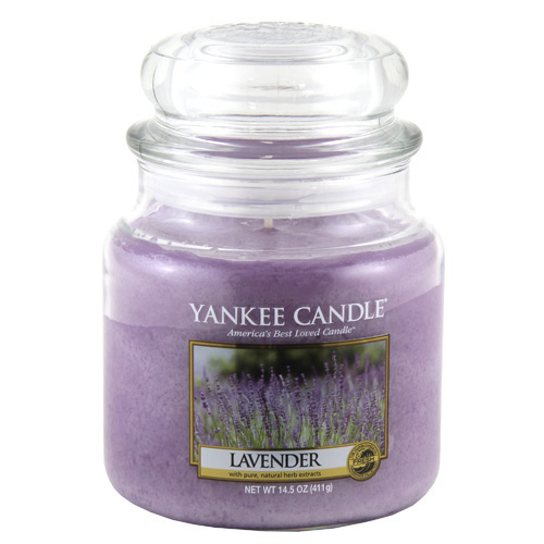 Svíčka ve skleněné dóze Yankee Candle Levandule, 410 g