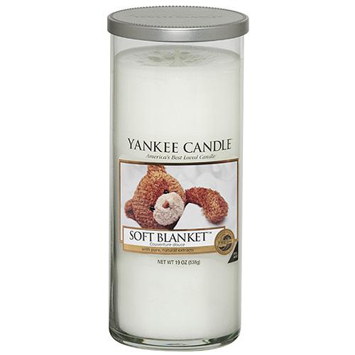 Svíčka ve skleněném válci Yankee Candle Jemná přikrývka, 538 g