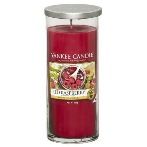 Svíčka ve skleněném válci Yankee Candle Červená malina, 566 g