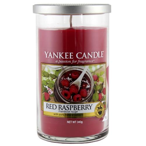 Svíčka ve skleněném válci Yankee Candle Červená malina, 340 g