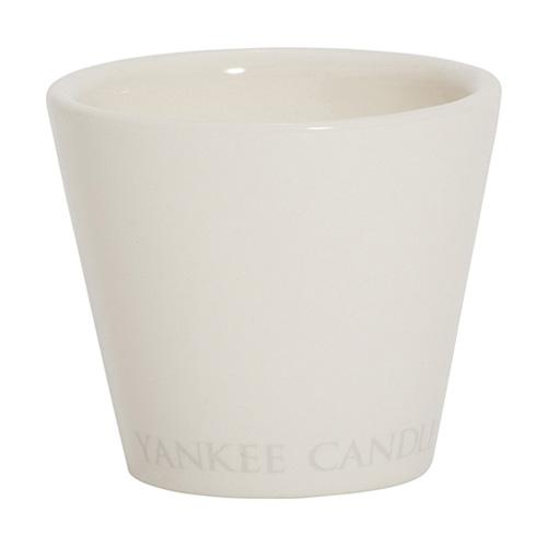 Svícen keramický Yankee Candle Bílý, výška 7 cm
